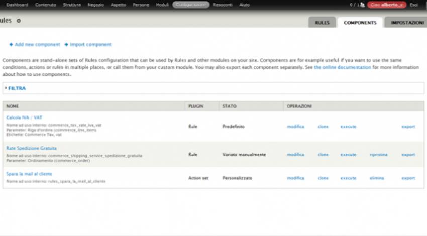 drupal rules components screenshot